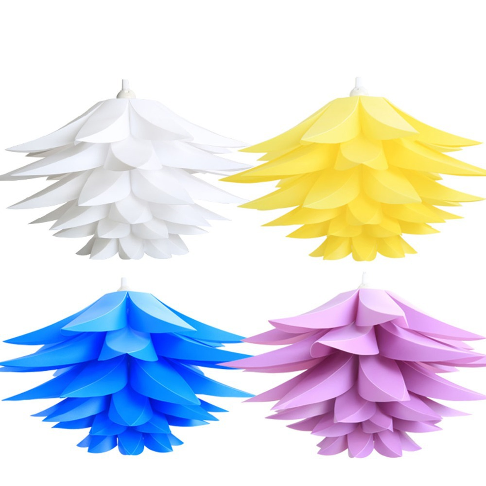 aliexpresscom buy hot selling pink candy color flower design lampshade diy iq pendant light dia 30cm plastic material lamp shade from reliable light - Abat Jour Color