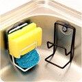 Sundries Storage Rack Double Sink Sponge Rack Bathroom Kitchen Metal Racks Holder Shelf Sucker Storage Rack Basket