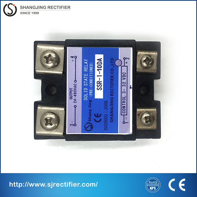free shipping top quality relay SSR solid state 10A compact shape input 3~32VDC output 35~480VAC relay solid for AC power new and original sa34080d sa3 4080d gold solid state relay ssr 480vac 80a