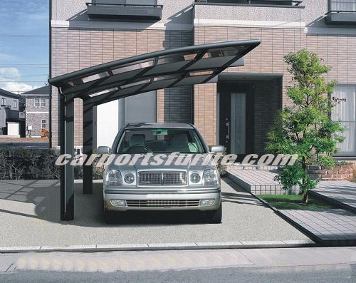 aluminium carport with polycarbonate sheet roof