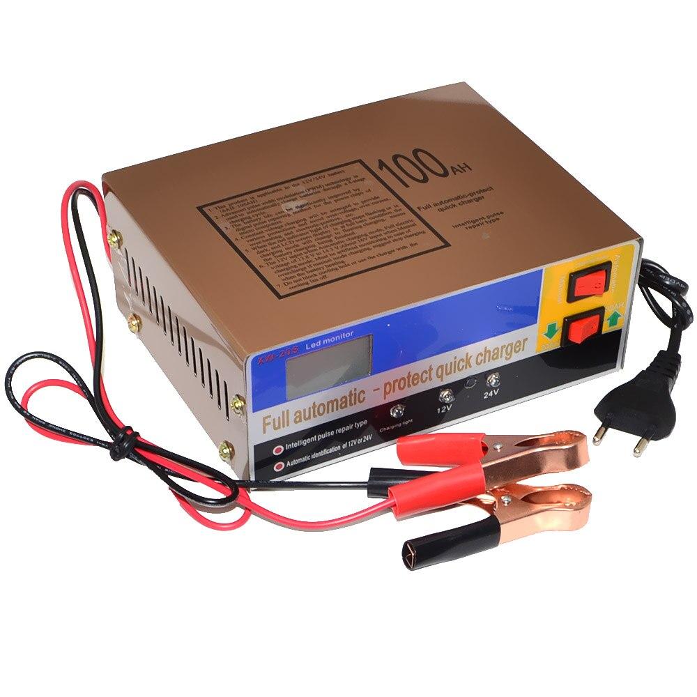 12 V/24 V 100AH De Voiture Scooter Batterie Chargeur Automatique LED Affichage Réparation D'impulsion Chargeur Livraison Gratuite 12002654