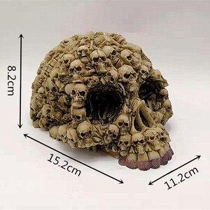 Image 3 - Silicone Mold Lots Horror Skull Halloween Cake Decorating Tools DIY Skull Candle Chocolate Gypsum Silicone Mold