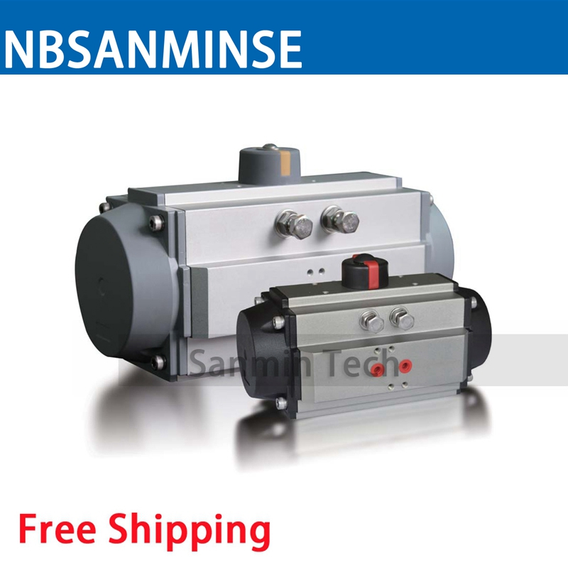AT ST 065-110 S Pneumatic Actuator Air Torque Ball Valve Butterfly Valve Pneumatic Parts Bump Filter Control High Quality Sanmin цена