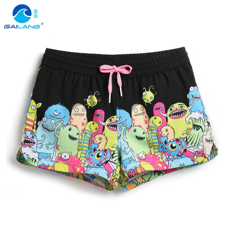 Board     shorts   women summer swimming   shorts   sexy Character woman bermudas swimsuit bathing beach surfing praia sweat joggers lady