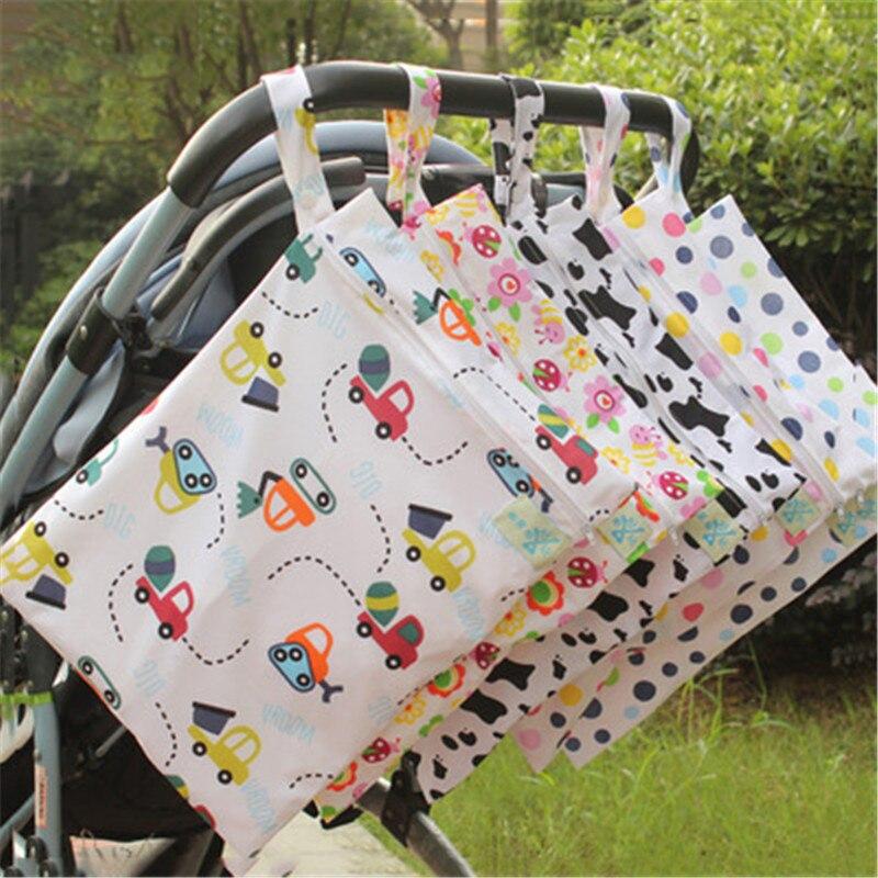 HTB1KI14XorrK1RkSne1q6ArVVXa5 Baby 30*40cm Diaper Bag Infant Waterproof Reusable Wet Dry Bag Print Pocket Nappy Bag Travel Single Layer Diaper Bag with Zipper