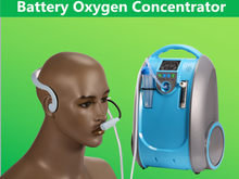 Lithium Battery 5L 90% PSA Portable Oxygen Powered by AC Source Car Charger and Li Battery Oxygen Generator With Trolley Cart(China)