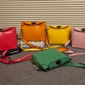 New 2016 fashion vintage Women Leather Handbag personalized candy color shoulder bag Women Messenger bag Free shipping
