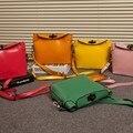 Novo 2016 do vintage da moda Bolsa De Couro Das Mulheres personalizado doces cor ombro saco saco Do Mensageiro Das Mulheres Frete grátis