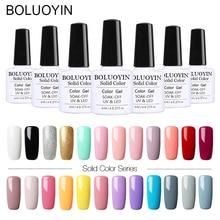 1pcs 8ML Pink Nude Soak Off UV Gel Polish Purple Black White Nail Long Lasting Pure Color Varnish Manicure