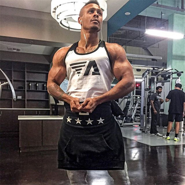 New 2018 Brand mens Summer men Tank Tops Clothing Bodybuilding Undershirt Casual Fitness tanktops tees CYY57 2