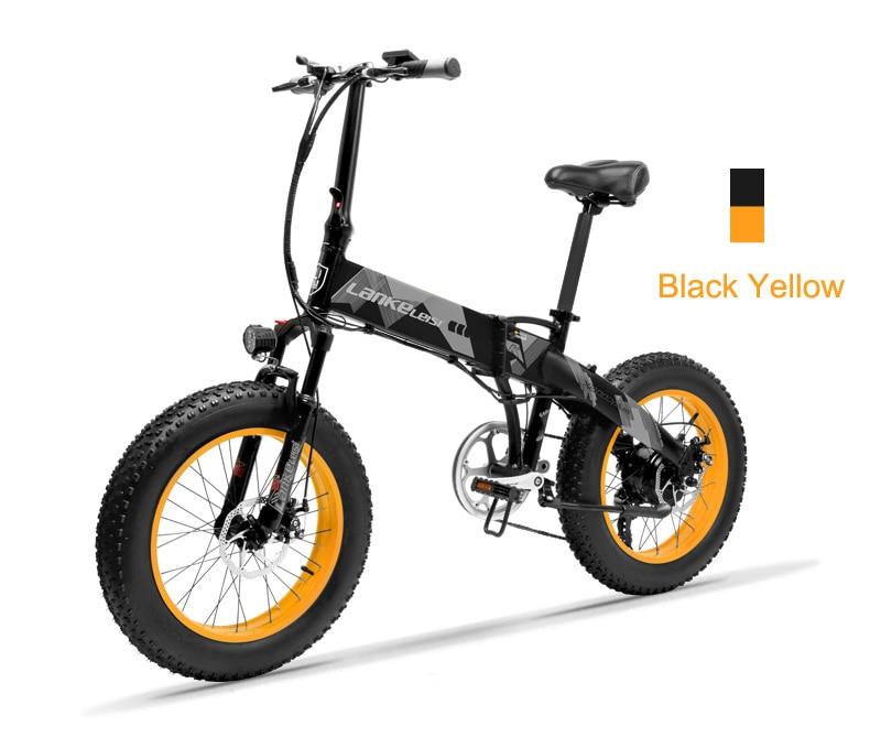 HTB1KI1RwZfpK1RjSZFOq6y6nFXah 20 Inch Folding Mountain Bike 500W 48V 14.5Ah Lithium Battery Fat Bike Electric Bike 5 Level Pedal Assist Suspension Fork