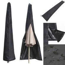 190X57X26 CM Açık Bahçe Veranda Şemsiye Şemsiye Kapak Su Geçirmez Toz Geçirmez Şemsiye Saklama Torbaları Ev Organizasyon Fermuar...