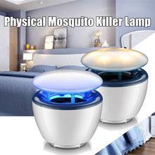 Night-Light Bug Fly Zappers Lamp Electric LED Mosquito Killer Anti Insect Trap Mosquito Traps Home Garden Pest Control 2 Colors