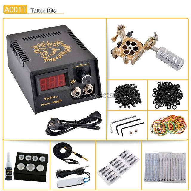 Chuse Beauty  products Complete Tattoo Kits Professional Machine Gun Supplies permanent makeup machine  eyebrow  rotary Kits