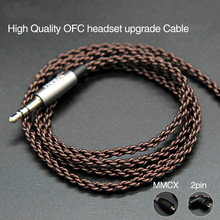 1.2M High Quality OFC Earphone Upgrade Cable With MMCX/2 Pin Plug For SE215 315 425 535/For KZ ZST/ZSR/ZS10/AS10 high quality headphones brand se215 se