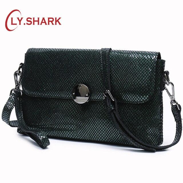 LY SHARK Ladies Genuine Leather Handbag Women Messenger Bag Small Shoulder Crossbody Bags For Women 2019