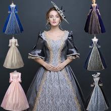 Women's costume vintage royal clothing queen Cinderella European women's wear Retro Annual meeting Theatre Court dress Drama