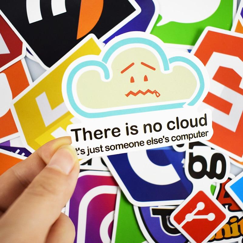 Купить с кэшбэком 50 Pcs Internet Java JS Php Html Cloud Docker Bitcoin Programming Language APP Logo Cool Stickers for Laptop Car DIY Stickers