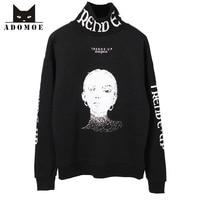 Women Korea BF Harajuku Character Print Pullover Female Young Girl Jumper Cool Loose Streetwear Casual Sweatshirt Letter Tops