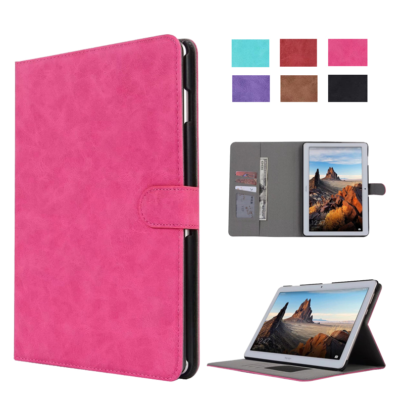 Retro Matte Case For Huawei MediaPad T3 10 AGS-L09 AGS-L03 High Quality PU Leather Cover For Huawei T3 10 9.6