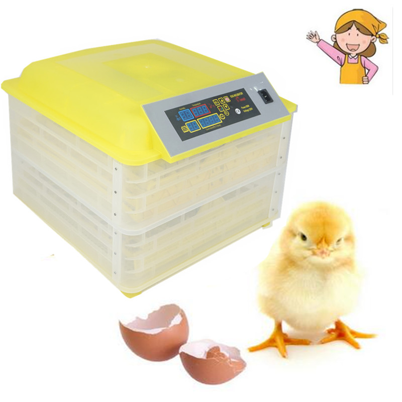 New 96 eggs incubator poultry eggs hatcher automatic chicken egg incubator hatching machine for sale mini home use eggs incubators chicken digital eggs turner hatchers hatching tray machine equipment tool