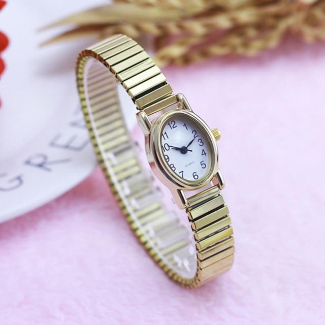 2018 new style old women mom flexible elastic strap quartz watch ladies fashion