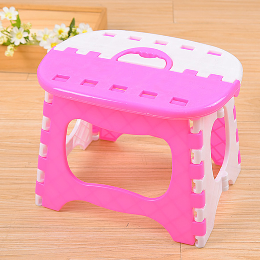 Space Saving Outdoor Fishing Strong Load Capacity Seat Anti Slip Folding Stool Plastic With Handle Bathroom Use PortableSpace Saving Outdoor Fishing Strong Load Capacity Seat Anti Slip Folding Stool Plastic With Handle Bathroom Use Portable