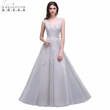 377697a6439c babyonlinedress V-Neck Prom Dresses 2018 Party Dresses