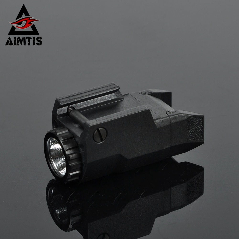 AIMTIS Compact APL Tactical Glock Pistol Light Constant/Momentary/Strobe Flashlight LED White Light For Glock Rails aimtis x300 series x300v ir flashlight tactical led night vision weapon light glock 17 18 18c pistol armas fit 20mm rail