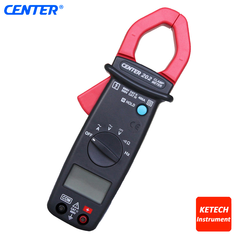 CENTER202 Pocket Size Mini AC/DC Clamp Table Meter
