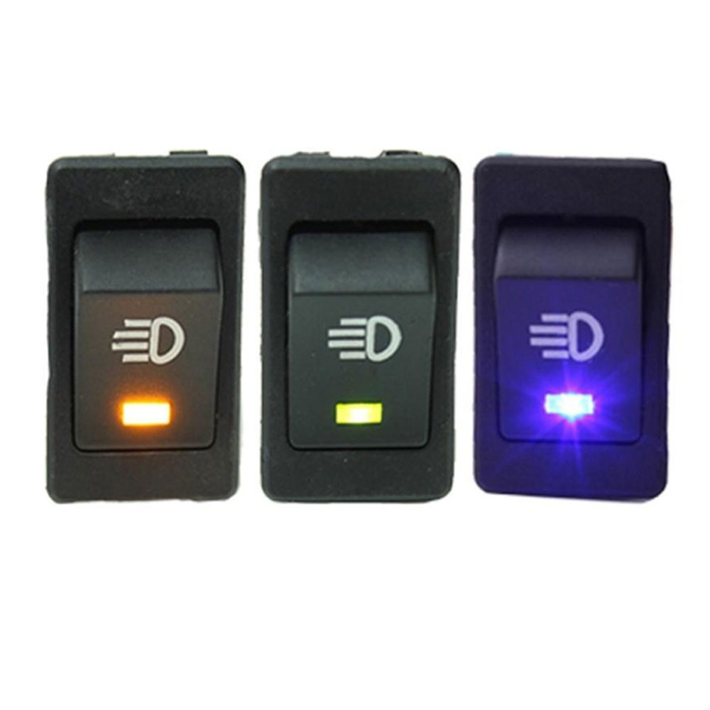 Active Waterproof Latching Rocker Toggle 12v 35a Car Auto Fog Light Rocker Toggle Switch Led#267741 yellow Green Blue 4pin 2position