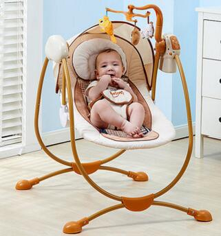 The baby rocking chair electric cradle chair.. Deck chair 2017 new babyruler portable baby cradle newborn light music rocking chair kid game swing