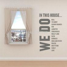 Большой дом правила виниловая наклейка на стену Съемная любовь художественная роспись для украшения комнаты