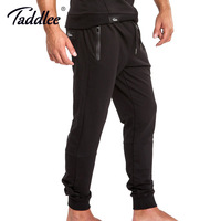 Taddlee Brand Mens Joggers Pants Casual Fitness Trousers Basic Active Slim Fit Bottom Skinny Man Workout Sweatpants Black Pocket