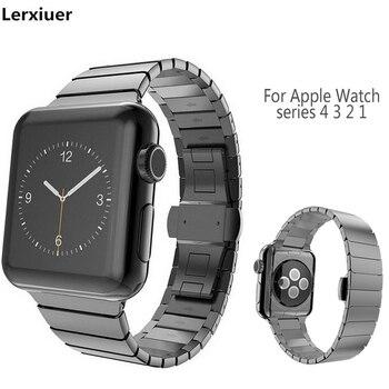 Cinghia Per apple watch band apple watch 4 3 2 1 iwatch fascia 42 millimetri 38 millimetri 44 millimetri 40 millimetri Degli Uomini del braccialetto in Acciaio Inox Accessori Per orologi