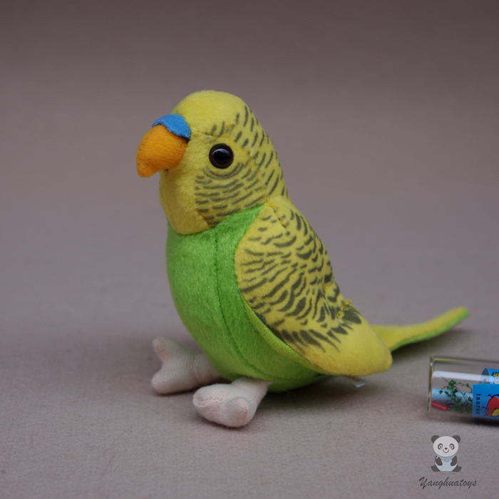 2019 Latest Design Simulation Budgies Plush Toy Green Super Kawaii Parrot Doll Children's Toys Gifts Utmost In Convenience