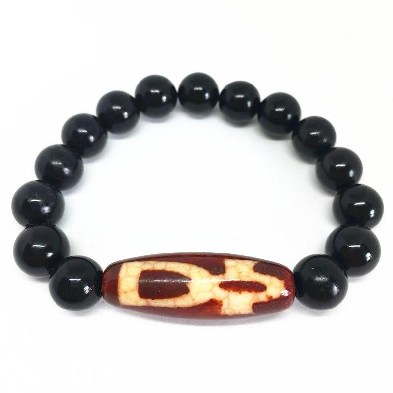 2018 New Arrival Agate Bracelet Fortune Men/Money Hook Dzi Beads Amulet Tibetan Dzi Beads Bracelet for Men and Women Bring Lucky