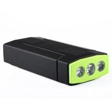 Veículo AUTO Motor Impulsionador da Bateria De Arranque de Emergência carro Saltar de Arranque Carregador portátil Banco De Potência com 2 Portas USB 3 Led luz