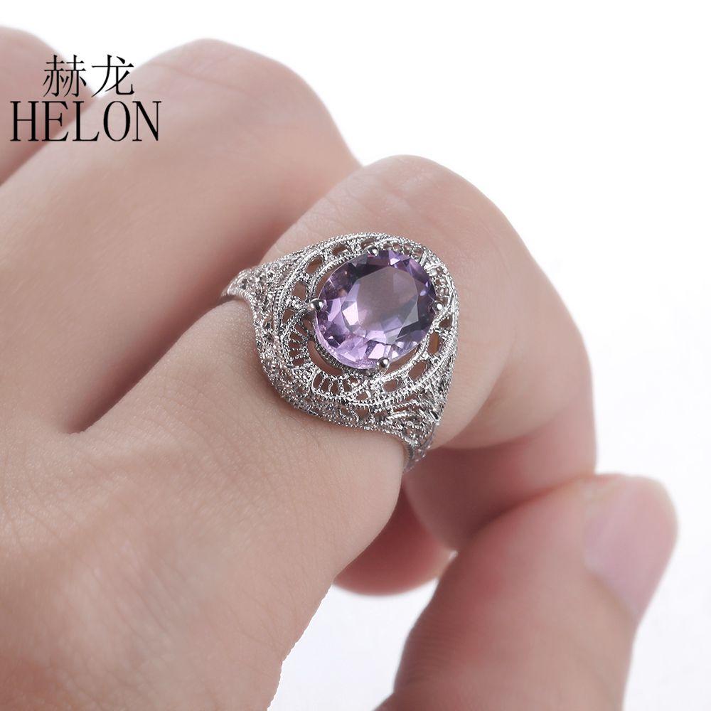 Aliexpress.com : Buy HELON Solid 14K White Gold 10X8mm Oval Cut 2.68 ...