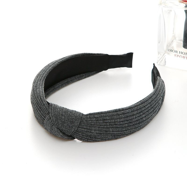 Solid Color Headband for Women  Soft Suede Knotted Hairband Spring Summer Handmade