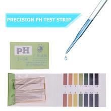 80 полосок 1-14 pH тест-полоски индикаторная бумага для щелочей и кислот воды слюна Лакмус тест er бытовой анализ инструменты