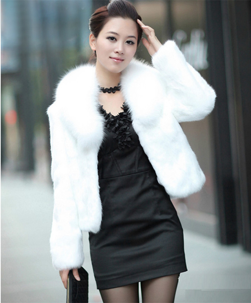 Online Get Cheap Long Sleeve Short Faux Fur Jacket -Aliexpress.com ...