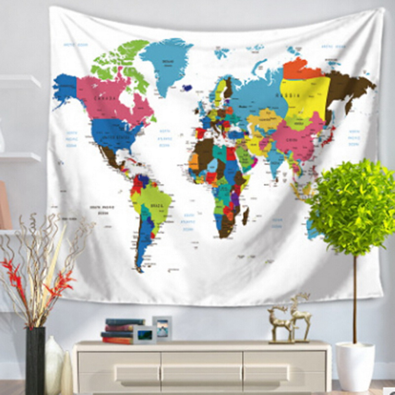 Urijk 1PC Wall Hainging Tapestry World Map Yoga Mat Carpet Home Decor Wall Tapestry Beach Towel Livingroom Decor Mat Drop Ship ...
