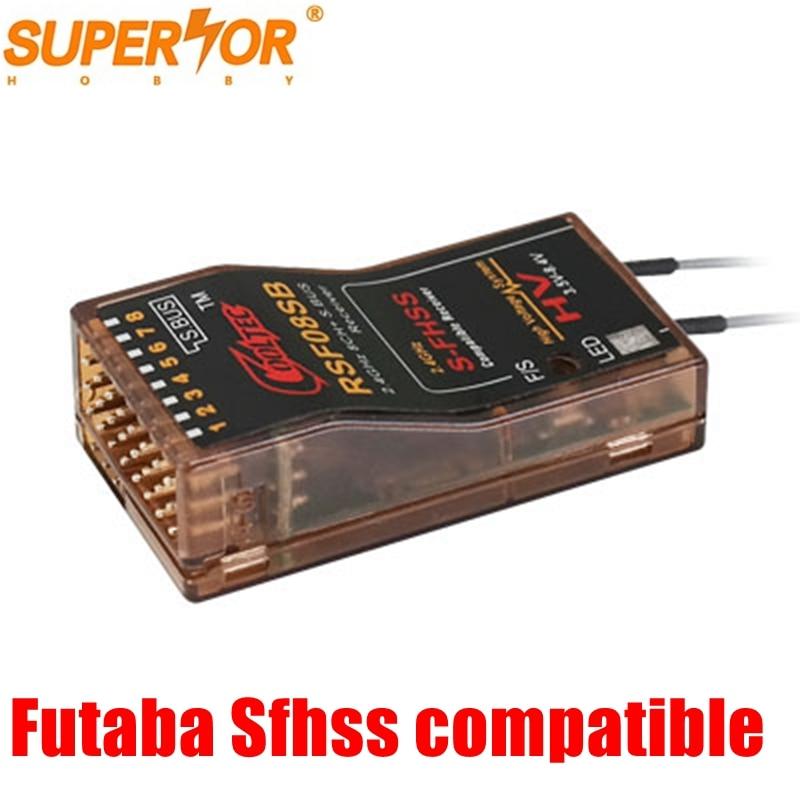 Cooltech RSF08SB Futaba S-FHSS SBUS compatible 8ch receiver 10J, 8J, 6K, 6J, 14sg,T16SZ, 18MZWC,18SZ, TM-FH,delta 8 Corona R8SFCooltech RSF08SB Futaba S-FHSS SBUS compatible 8ch receiver 10J, 8J, 6K, 6J, 14sg,T16SZ, 18MZWC,18SZ, TM-FH,delta 8 Corona R8SF