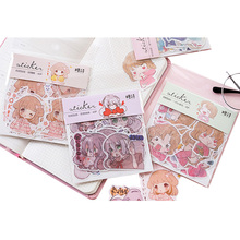 40pcs/pack Cute And Beautiful Girl Series Mini For Gifts Children Dairy Stickers Six Selections