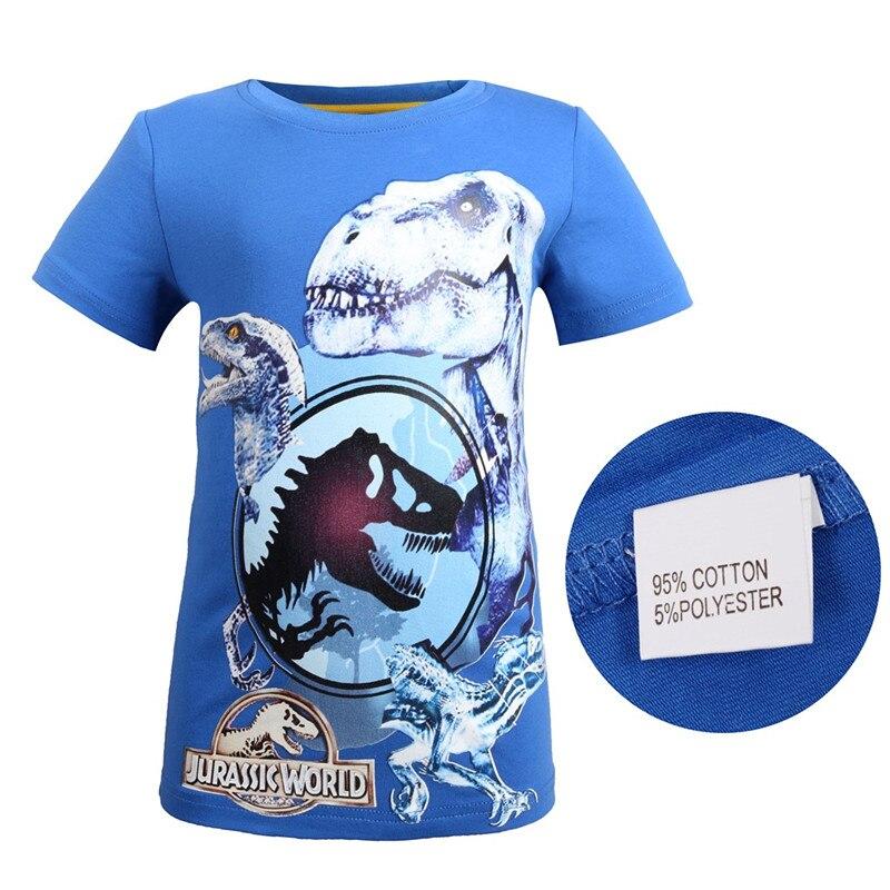New Comfortable Jurassic World dinosaur Children Kids Shorts Tops Tees T Shirt Fille Summer Teenager girls Boys Dragon T-Shirt