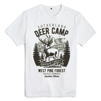 Bloodhoof Deer Camp printing white cotton hip hop men t shirts unisex tops tee
