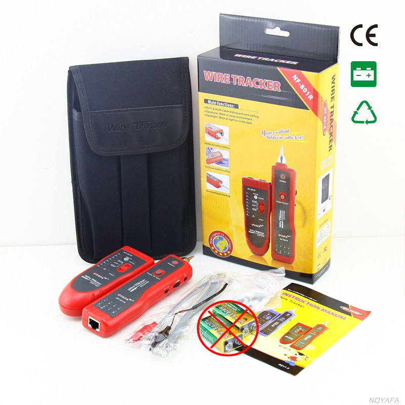 NF 801 Red color multifunction cable detector networking Telephone Phone cable tester NF 801
