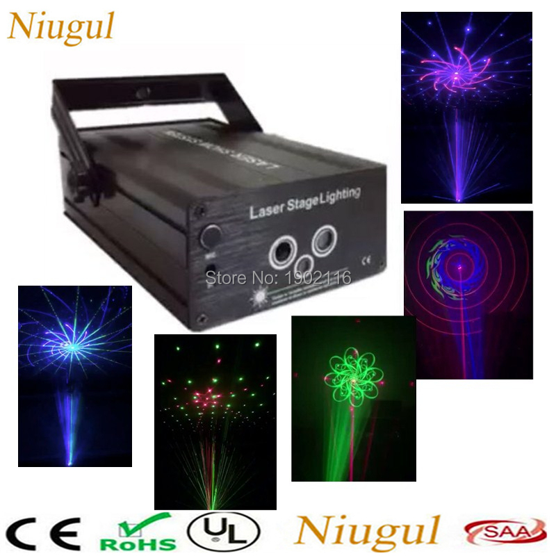 Niugul With Big Patterns RGB Mini Laser Projector Light DJ Disco Party Music Laser Stage Lighting Effect With Gobo Xmas Lights atotalof 24 patterns rgb mini laser projector light dj disco party music laser stage lighting effect with led rgb xmas lights