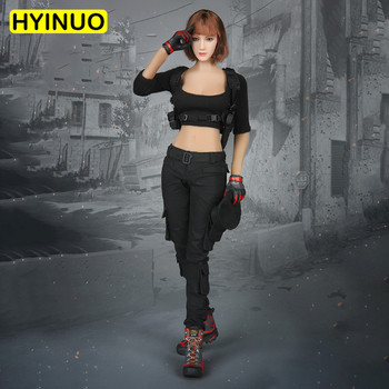 1/6 Scale Sexy Female FG010 Most beautiful Women Gunman Black Sexy Clothes Clothing Suit Set Model for 12''Action Figure Body